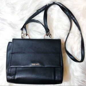 Nine West Black Faux Leather Crossbody Bag